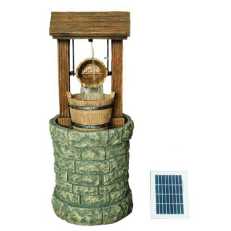 strobe light water fountain solar water feature well
