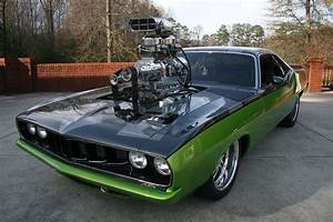 1971 Supercharged Plymouth Hemi Cuda hot rod rods blower ...