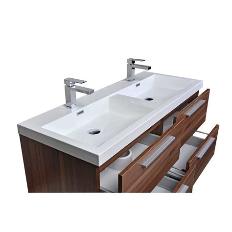 Buy 47 Inch Wall Mounted Modern Double Bathroom Vanity in