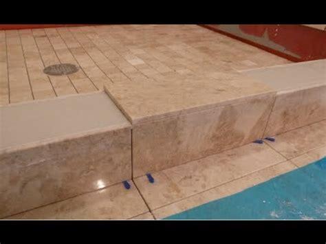 part    tile shower curb measure  cuts