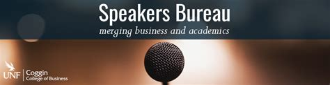speakers bureau unf coggin of business nathaniel herring jr