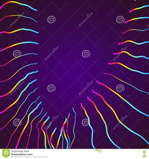 abstract background with 3d pink and blue lines eps10