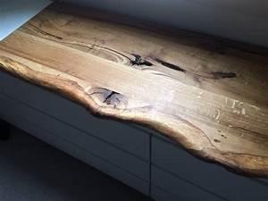 Waschtischplatte Holz Selber Bauen : leimholzplatte rustikal plus eiche baumkante vorne 160x50x3cm ge lt waschtisch holz ~ A.2002-acura-tl-radio.info Haus und Dekorationen