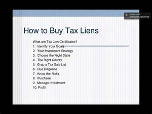 How to Buy Tax Liens and Tax Lien Certificates - YouTube