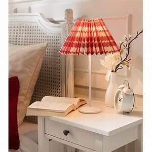 Plissee 65 Cm : lampenschirm plissee durchmesser 25 cm rot wei stoff rund 3020 lampenschirme und ~ Markanthonyermac.com Haus und Dekorationen