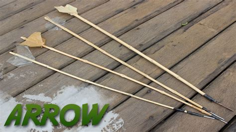 How To Make A Bamboo Arrow Youtube
