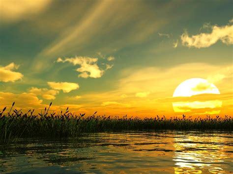 keindahan suasana alam diwaktu senja alamblogr