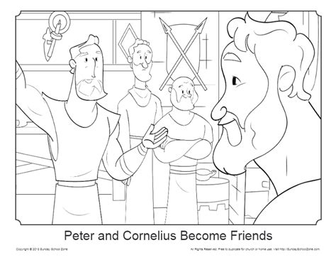 peter  cornelius coloring page  sunday school zone