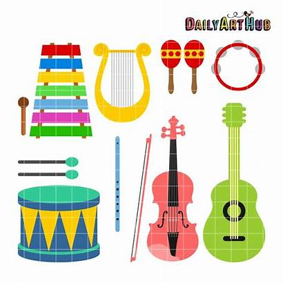 Instruments Musical Clipart Clip Preschool Intruments Instrument