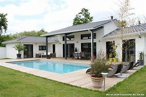 decoration exterieur de jardin with contemporain terrasse With idee deco de jardin exterieur