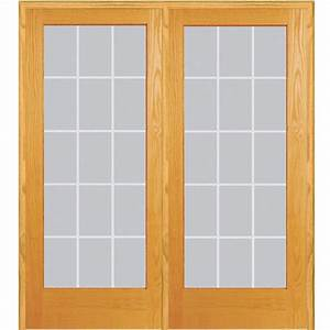 mmi door 60 in x 80 in left hand active unfinished pine With 60x80 french doors