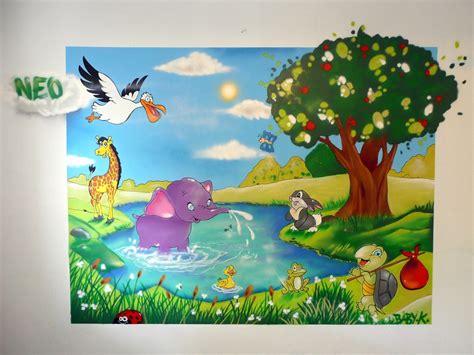 graff chambre graff chambre thème animaux baby k