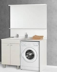 idee meuble vasque lave linge With meuble lave linge