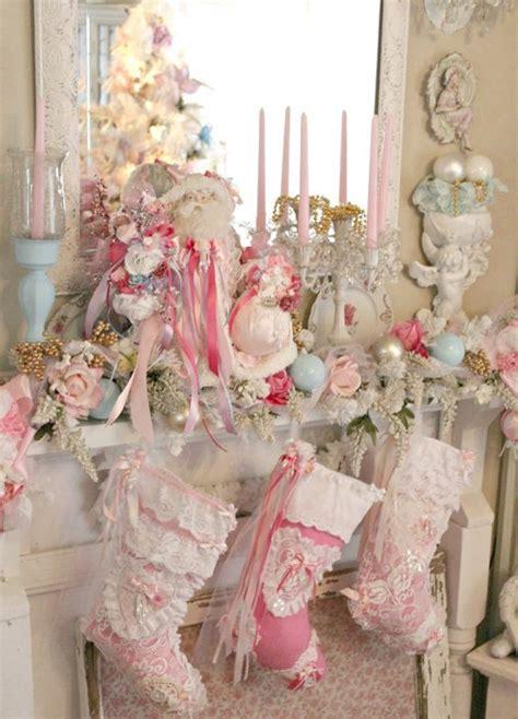 delicate shabby chic christmas decor ideas digsdigs
