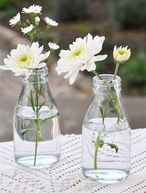 ideas  milk bottle flowers  pinterest milk