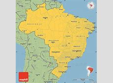 Savanna Style Simple Map of Brazil