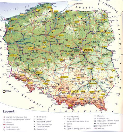 poland maps printable maps  poland