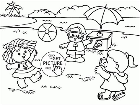 Summer Coloring Pages Printable  Printable Coloring Page