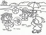 Coloring Summer Beach Seasons Drawing Pages Fun Season Playing Printable Sun Getdrawings Funny Printables Under Popular Winter Coloringhome sketch template