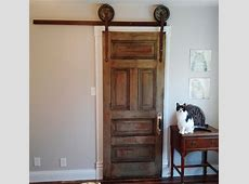Rollingsliding closet door made from parts and pieces