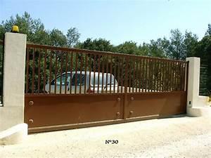 Modele De Portail Coulissant : fabrication d un portail coulissant ef34 jornalagora ~ Premium-room.com Idées de Décoration