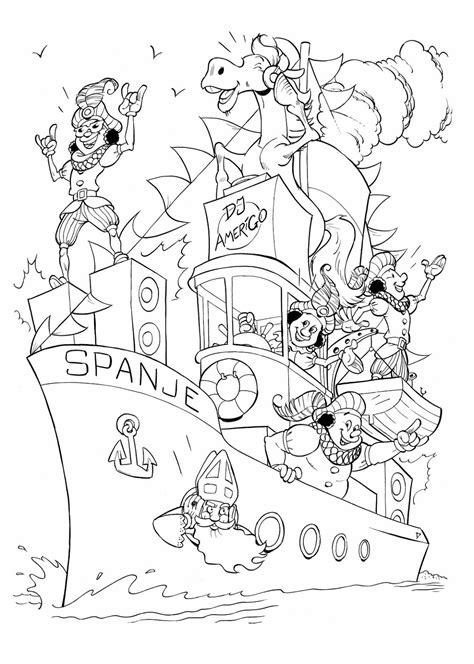 Sinterklaas Kleurplaat 2014 damen illustraties presenteert sinterklaas kleurplaat