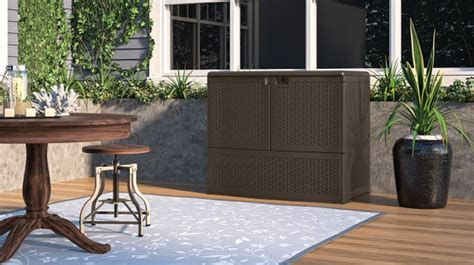 Suncast Backyard Oasis Vertical Deck Box by Suncast Backyard Oasis Vertical Deck Box Image Mag