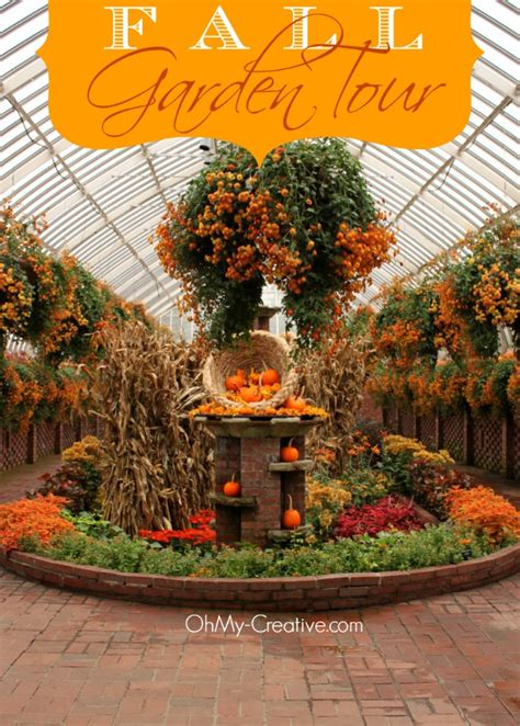 fall flower garden tour oh my creative