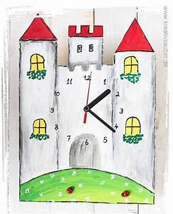 Uhrwerk Mit Zeiger Zum Basteln : kinderzimmer uhr basteln ritterburg uhr basteln inklusive anleitung rohling aus holz ~ Eleganceandgraceweddings.com Haus und Dekorationen