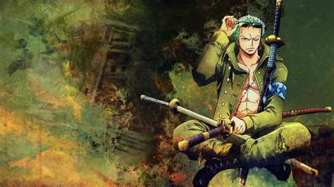 desktop wallpaper roronoa zoro  piece anime boy hd