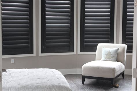 Interior Blinds by Our New Black Plantation Shutters Fabulous From