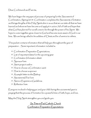 printable catholic confirmation letter forms