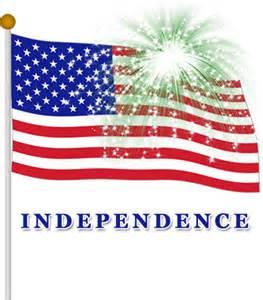 4th July Flag Fireworks Clip Art