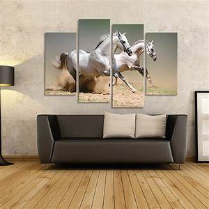 Aliexpress.com : Buy 4 Piece Picture Running White Horse ...