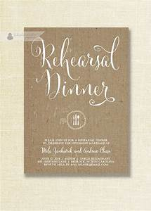 rustic burlap rehearsal dinner invitation shabby chic With wedding rehearsal dinner favors