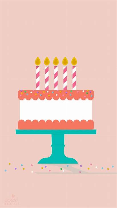 Birthday Cake Wallpapers Iphone July Calendar Pink