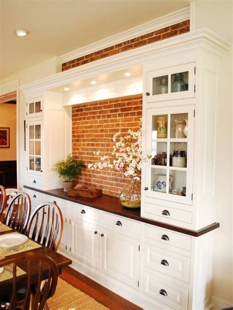 Bulit In Dining Room Hutch With White Color — The Wooden