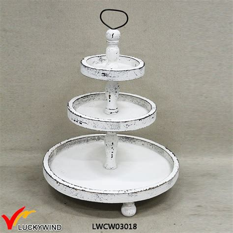 manmade white   tiers shabby chic wooden tray stand buy wood tray stand tiers tray