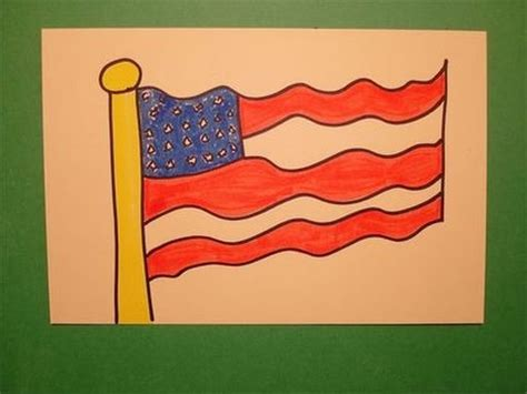 Let's Draw the American Flag! - YouTube