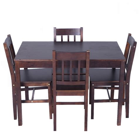 kitchen table with 4 chairs solid wooden pine dining table and 4 chairs set kitchen