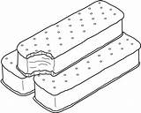 Ice Cream Coloring Sandwich Pages Template Printable Templates Bestcoloringpagesforkids sketch template