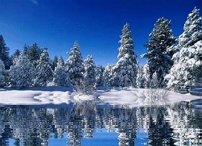 Nature Animated Wallpapers Landscapes Snow Gifs Christmas