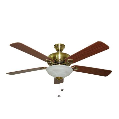 harbor breeze fans reviews shop harbor breeze 52 quot shelby antique brass ceiling fan at
