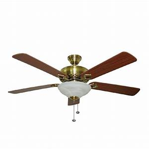 Harbor breeze quot shelby antique brass ceiling fan at