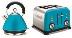 teal kettle and toaster set breville teal traditional kettle toaster set vtt366 vkj693