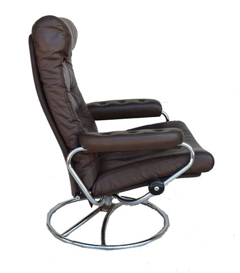 ekornes stressless chair and ottoman 1972 for sale at 1stdibs