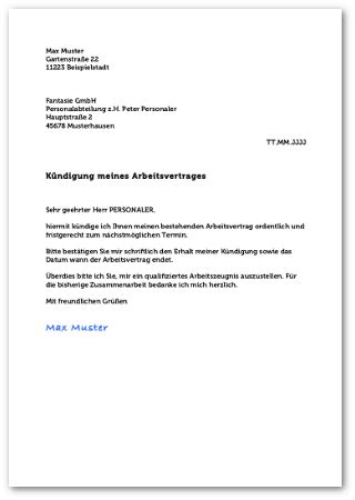 kuendigung arbeitsvertrag  euro job psicologamilanoinfo