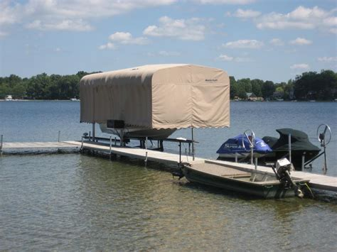 Shore Mate Boat Lifts by Board Tower Canopies Shoremate
