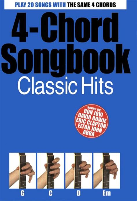 The song is played with four easy chords; 4-Chord Songbook Classic Hits   Musicroom.com
