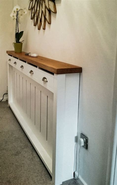 kitchen radiator ideas hallway dresser handmade to measure radiator cover